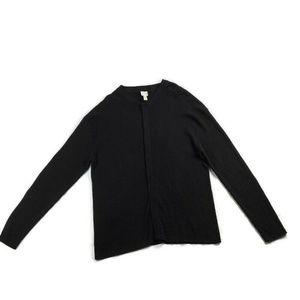 Armani Collezioni Silk Blend Cardigan Sweater Snap